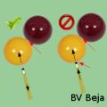 Er wordt van biljardé gesproken als de pomerans nog in contact is met de speelbal op het moment dat deze bal een andere bal of de band raakt.